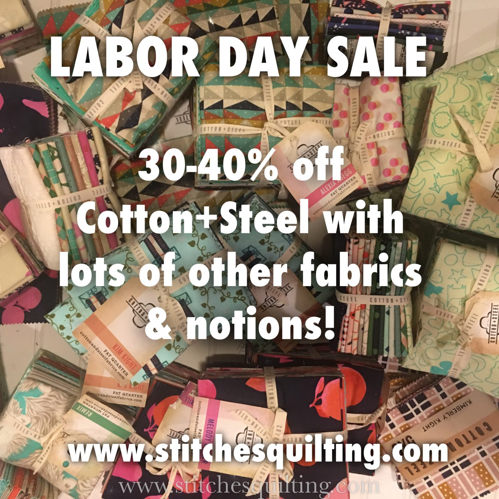 Stitches Quilting Fabric Labor Day Sale