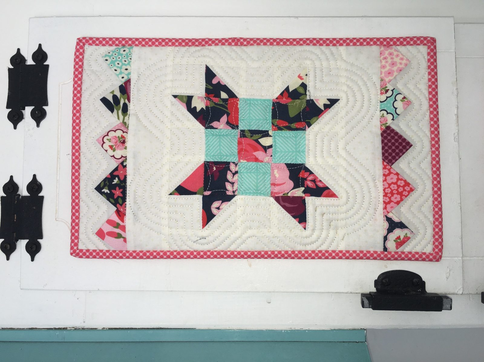 Posy Garden Flower Block Mini Quilt Carina Gardner Riley Blake Designs