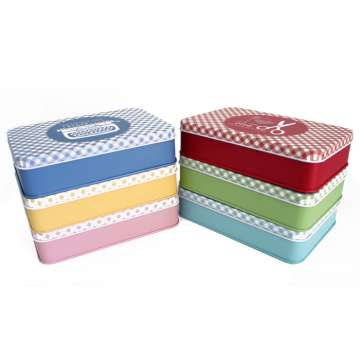 Lori Holt Cute Set Red Blue Yellow Pink Green Aqua Tins Bee In My Bonnett