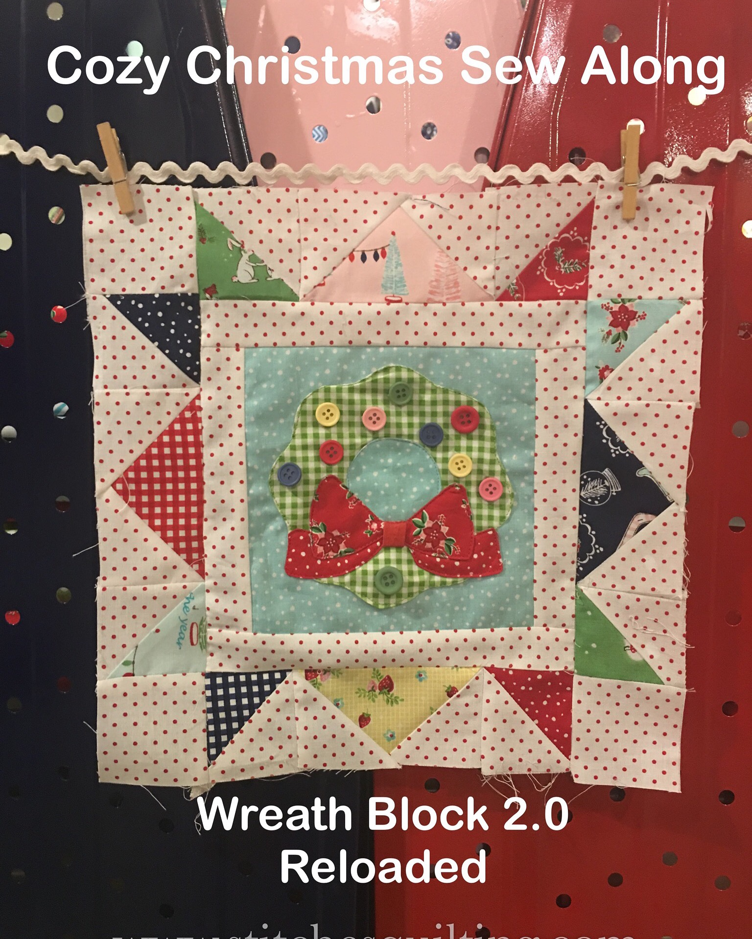 Cozy Christmas Wreath Block Sew Along Lori Holt Bee In My Bonnet Riley Blake