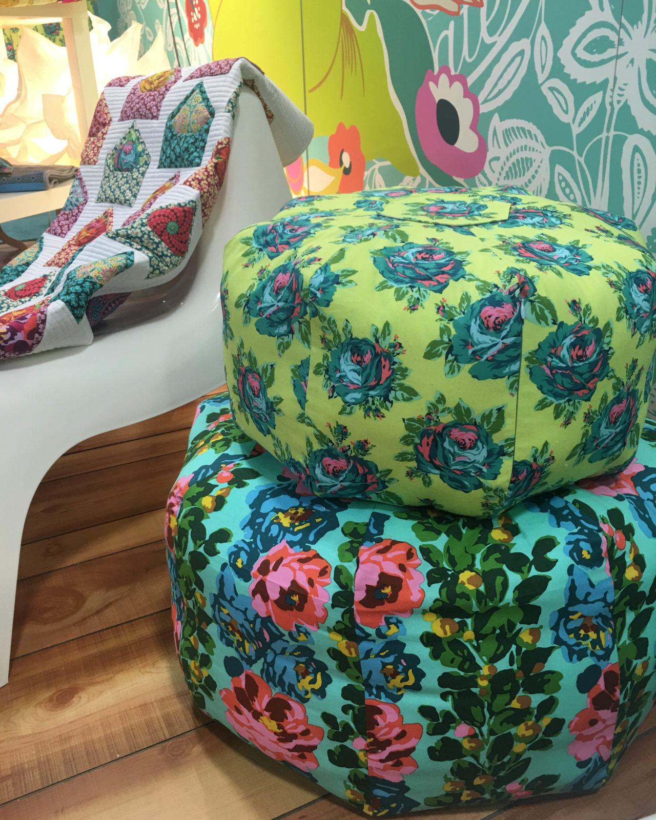 Amy Butler Circular Home Dec Pillow Poofs in Eternal Sunshine Fabric