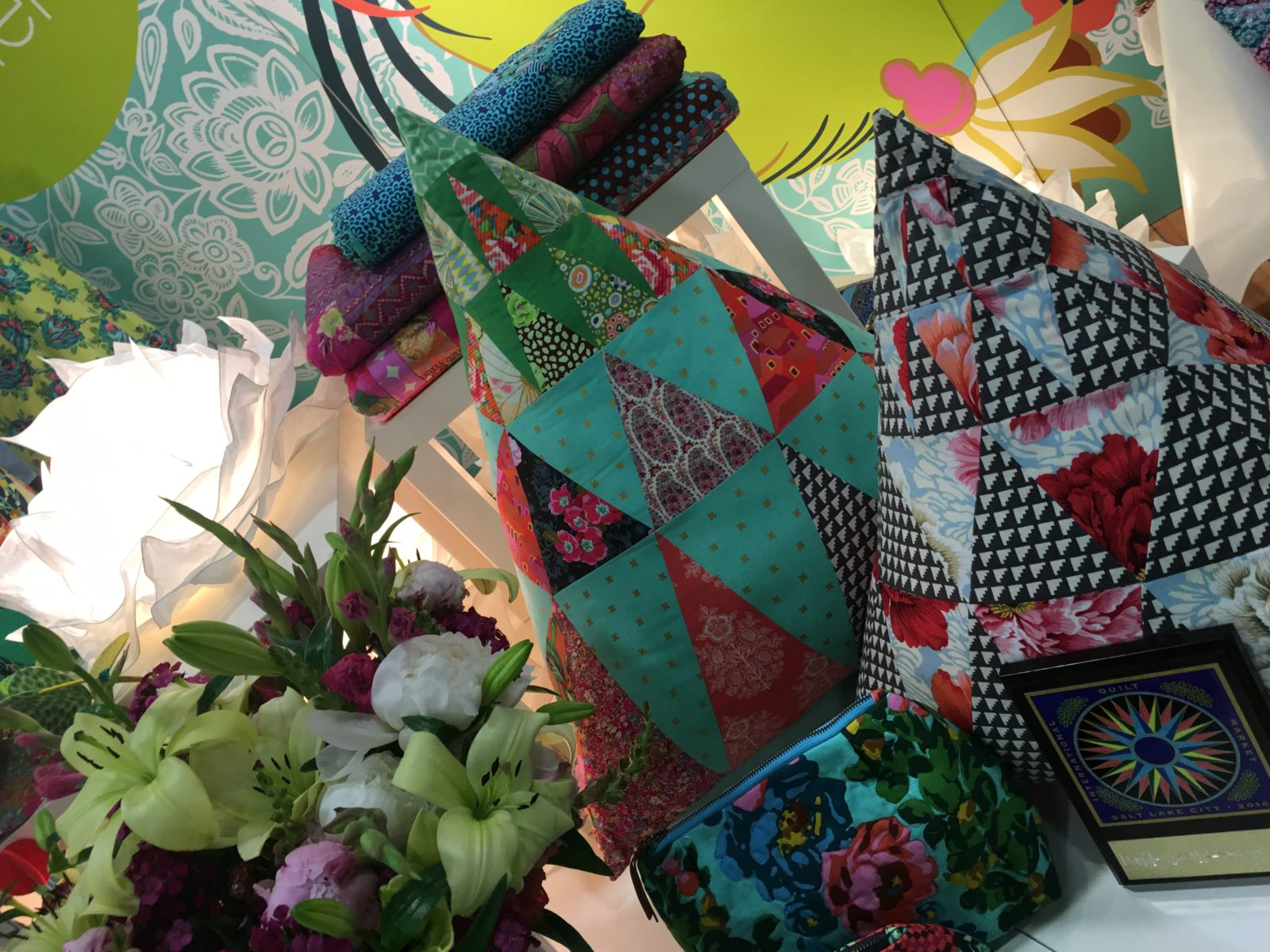 Amy Butler Pyramid Pillows with Eternal Sunshine Fabrics Home Dec must have!