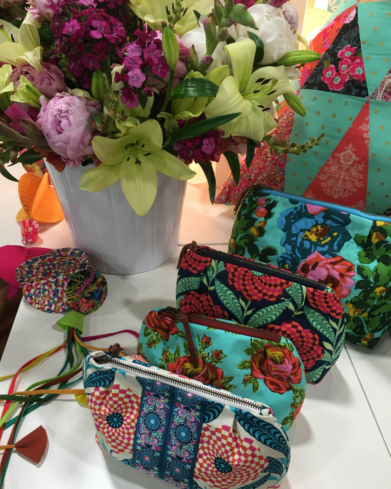 Darling Amy Butler Zippered Bags in Eternal Sunshine Fabric
