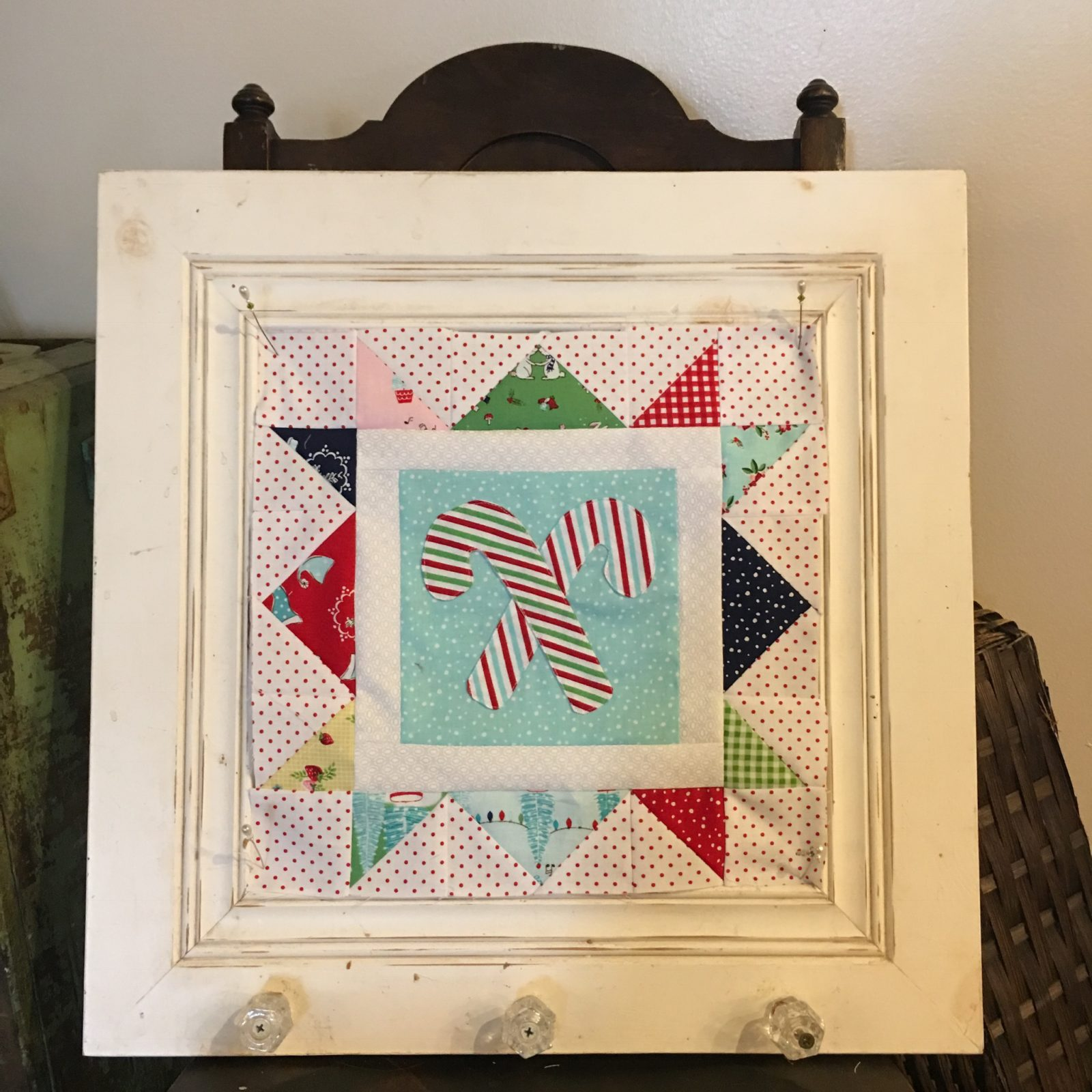 Cozy Christmas Candy Cane Block