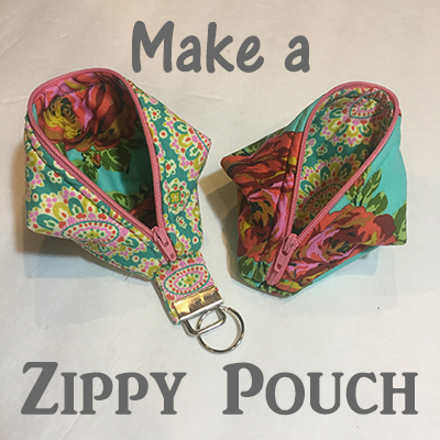 Make a Zippy Pouch Sweat Pea Pod