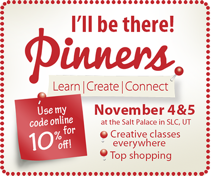 I'll be there at Utah Pinners Conference to Learn Create and Connect