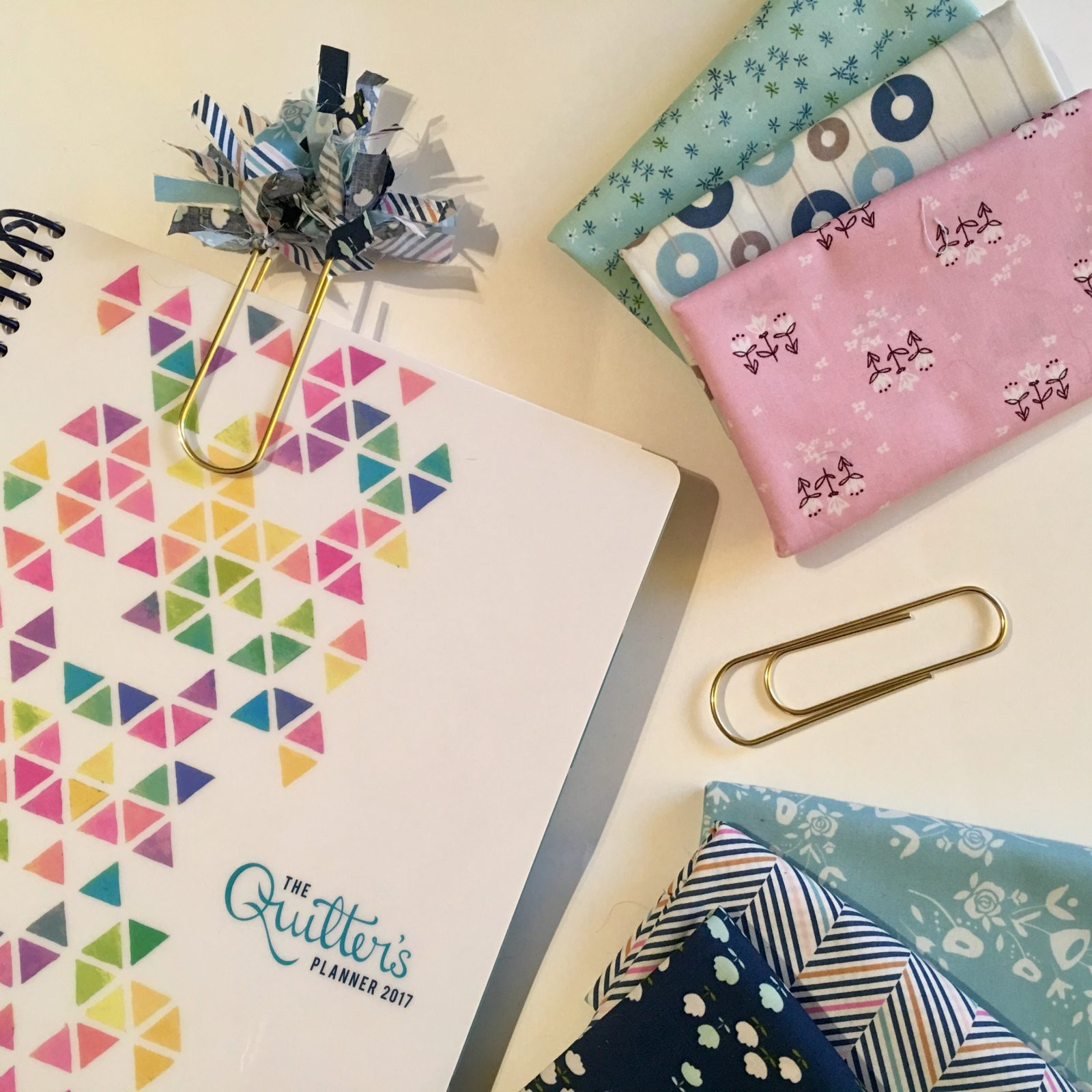amy sinibaldi fabric Paperclip Bookmark Quilters Planner