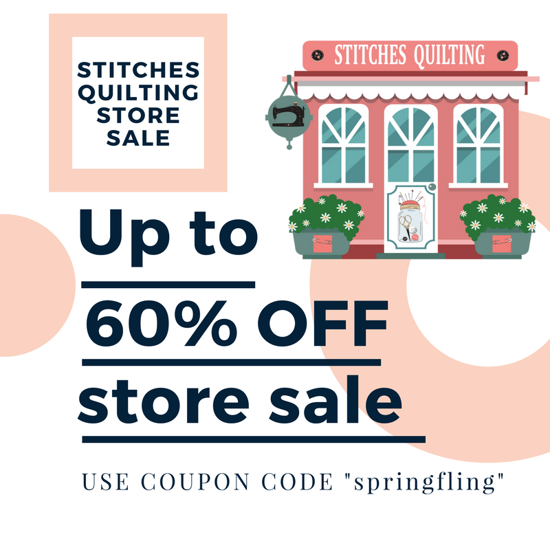 Stitches Quilting Quilt Sew Fabric Sale 60% OFF