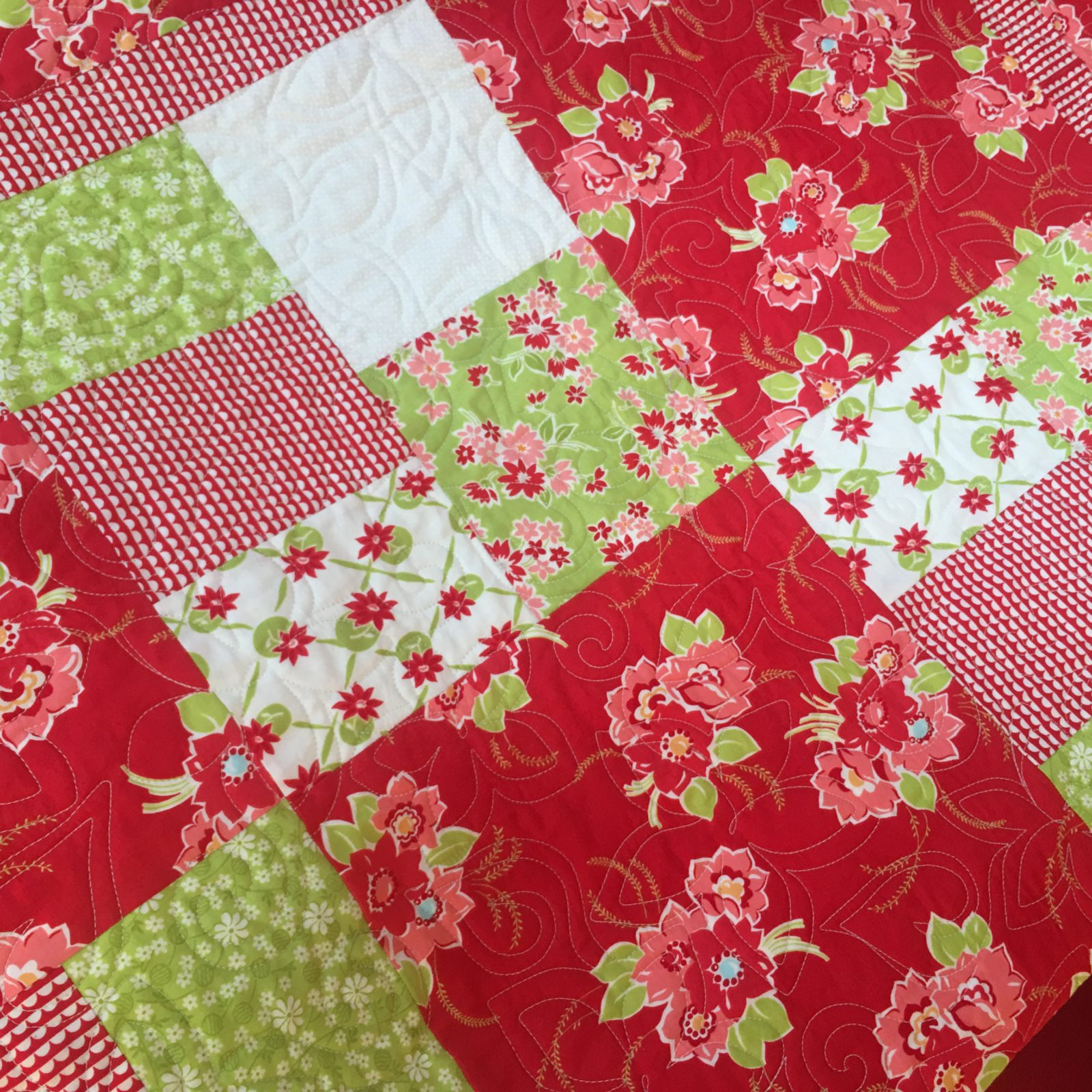 Boxy Floral Quilt
