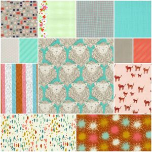 At the Zoo Remix Cotton+Steel Fat Quarter Bundle Collection