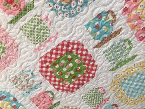 Vintage Dishes Quilt By Lori Holt Sew Cherry 2 Fabric Collection Riley Blake Designs