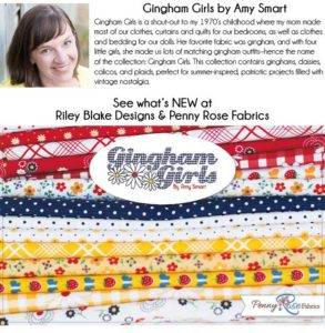 Gingham Girls 10 inch Stacker 42 pieces by Amy Smart with Penny Rose Fabrics Collection