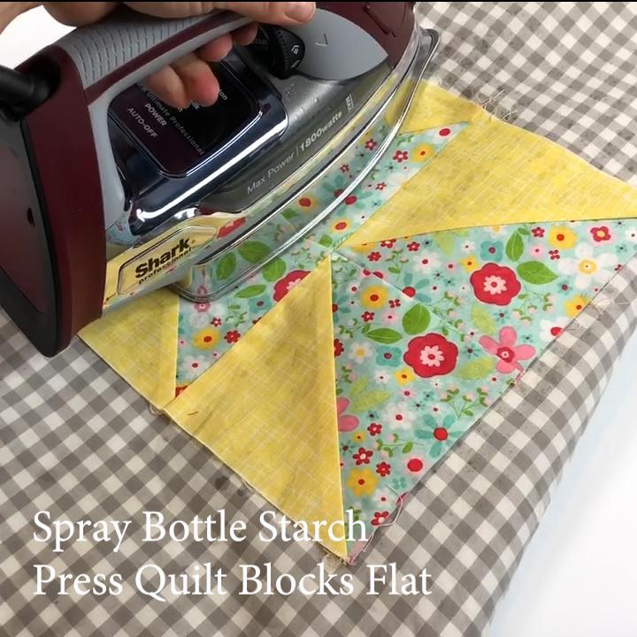 3a Quilt Hack - Press Blocks Don't Iron Them