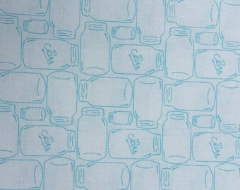 Bee Basics Backgrounds Aqua Jars by Lori Holt of Bee in my Bonnet