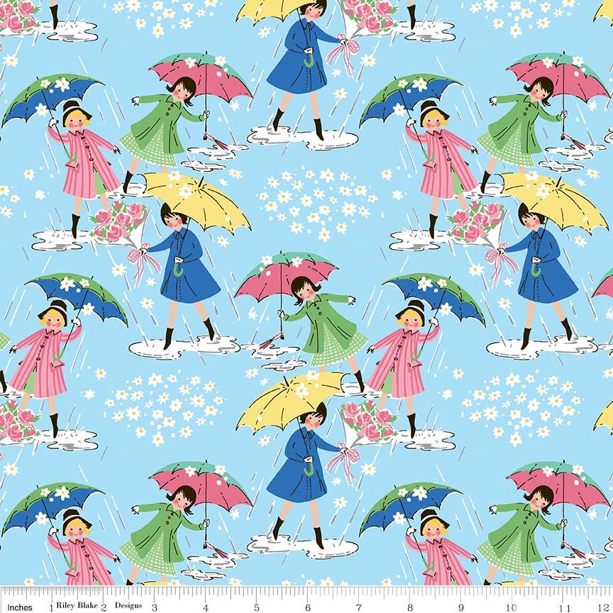 Mae Flowers Blue Main Print Penny Rose Fabrics C6910-Blue_Mae_Main-72dpi-wruler