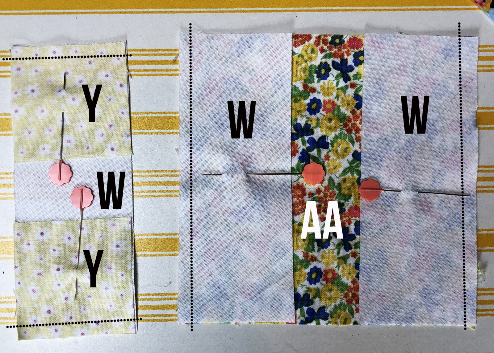 How to Piece Mae Flowers Lattice Quilt
