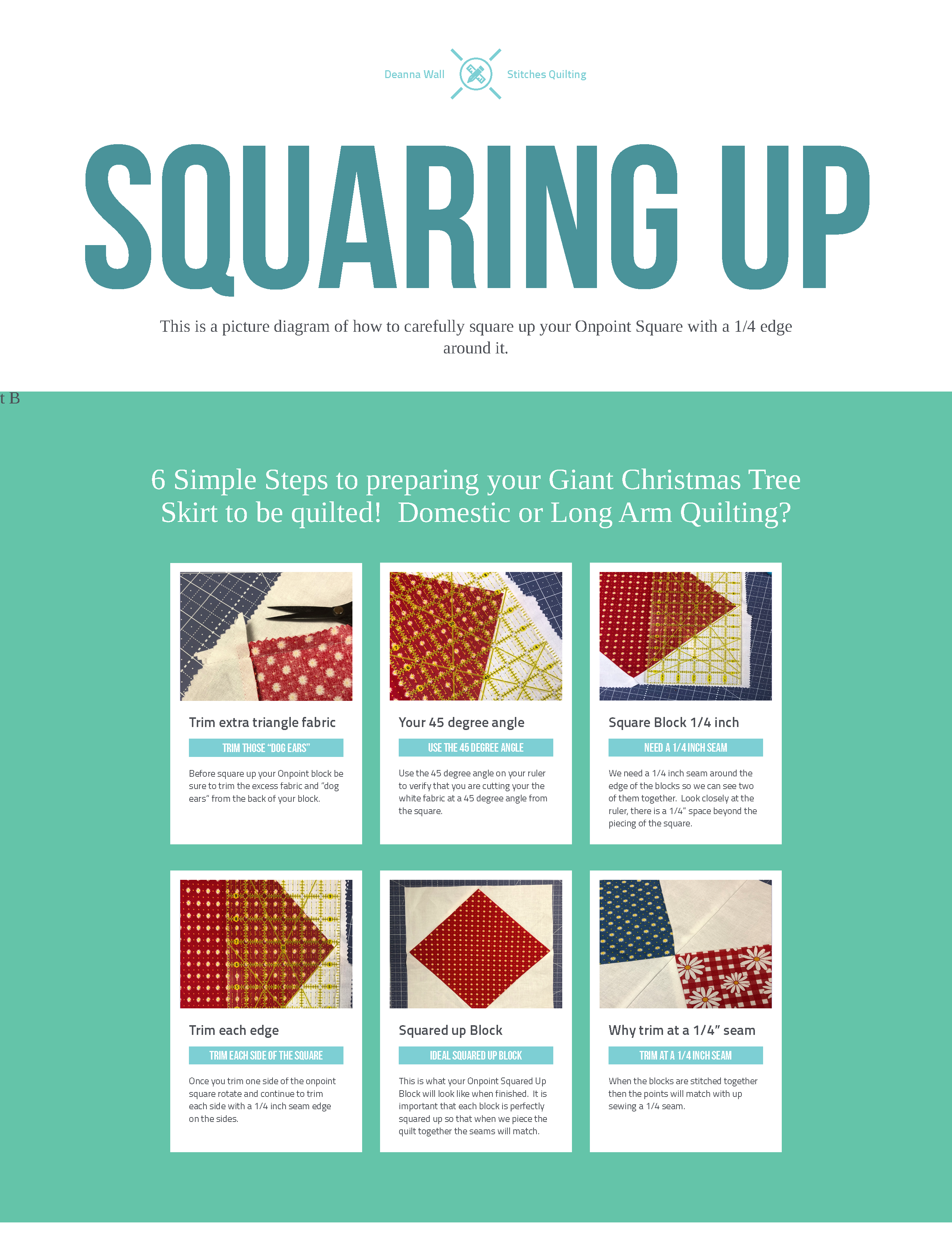 Square Up Your Onpoint Square Quilt Block with a 1/4 inch seam tutorial