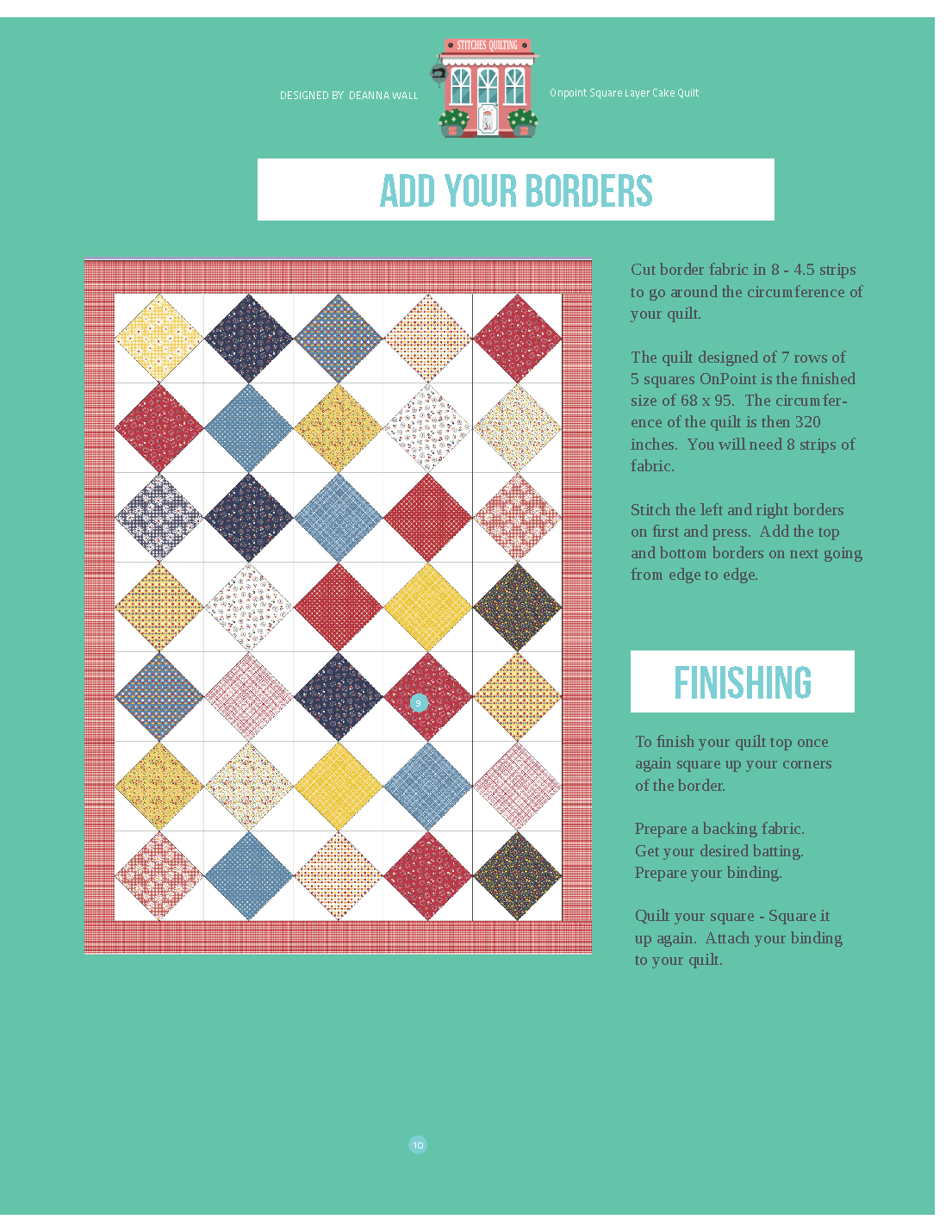 Add a border to your quilt top with these step by step instructions.