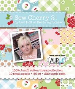 Sew Cherry 2 Aurifil Thread by Lori Holt 10 Spools