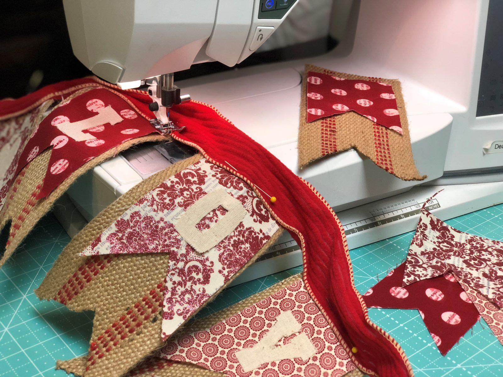 Cricut Maker Sew Valentine Bunting Banner