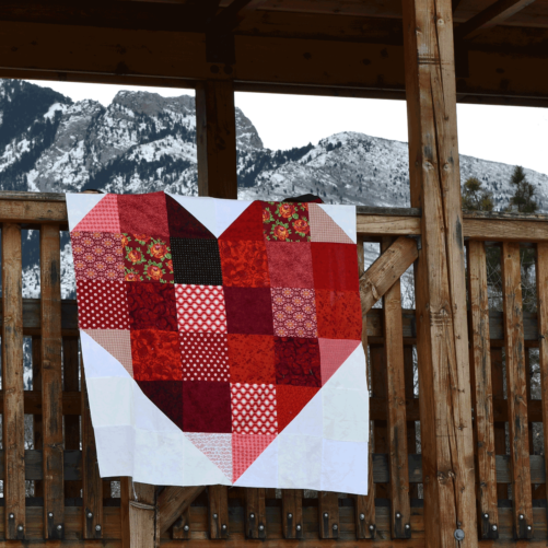 You Are Loved Heart Quilt Kit Close Up Quiltalong Stitches Quilting with Deanna Wall
