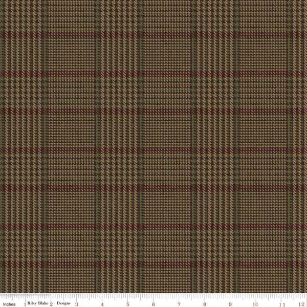 Menswear by Erin Studios Penny Rose Fabrics Brown Plaid