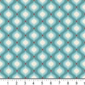 Blue Flutter Petals Fabric Riley Blake The Quilted Fish C3133