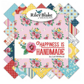 Happiness is hand made fabric by Lori Whitlock