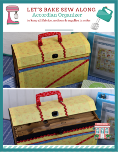 Let's Bale Sew Along Accordion Suitcase Organizer