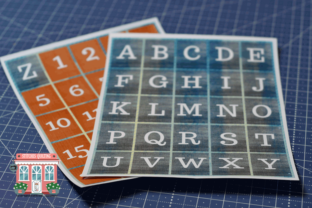 Quilting Markers Numbers and Letters Printed Off