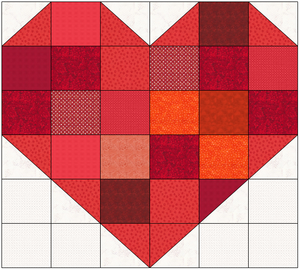 You Are Loved Heart Quilt Digital Pattern