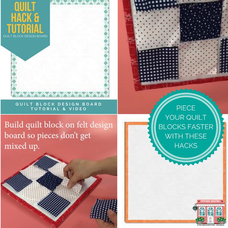Quilt Block Design Board Hack Tutorial Stitches Quilting
