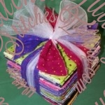 Bright Playful Fabric Flannel Rag Quilt Kit