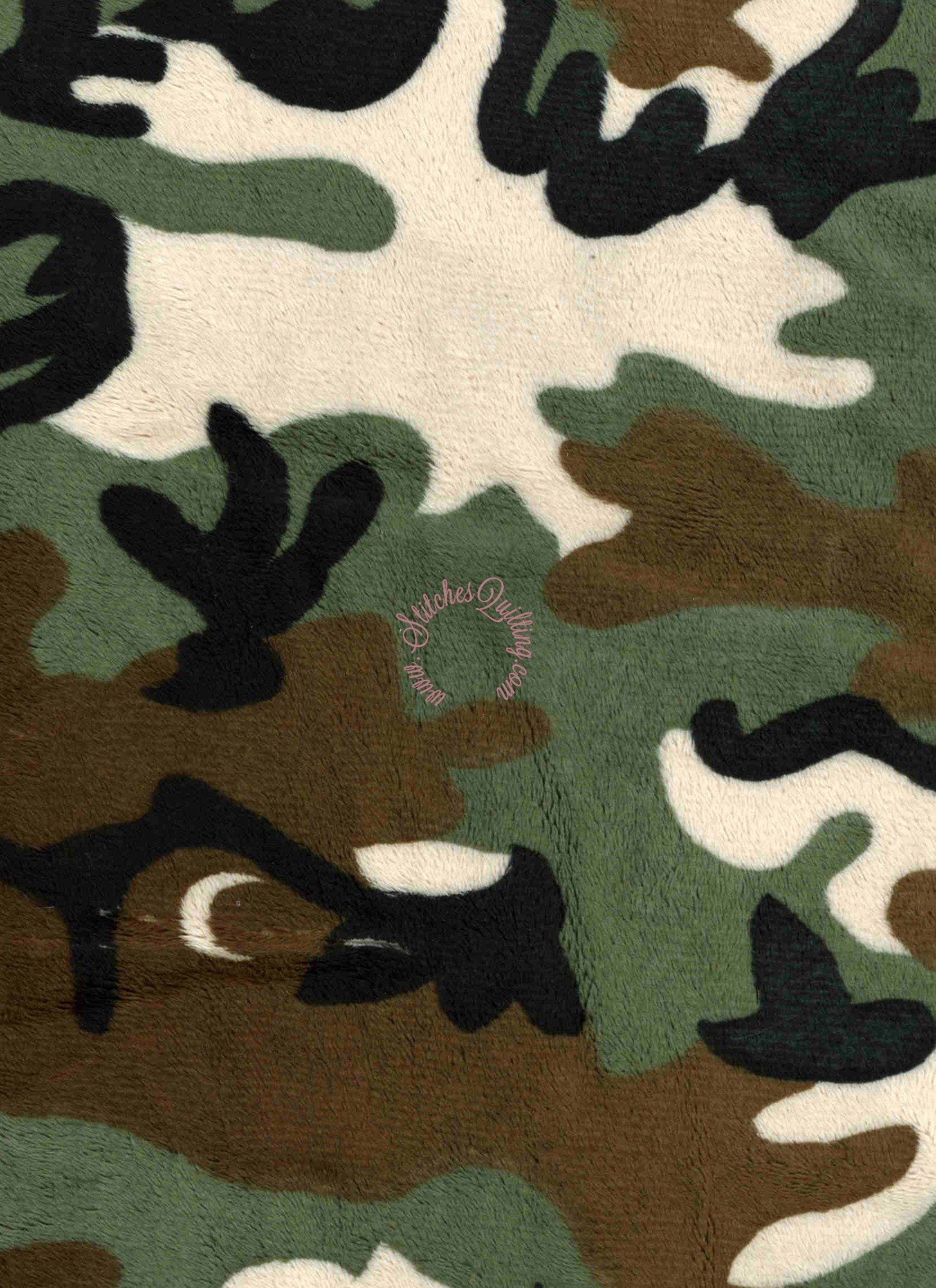 Minky Camo Stitches Quilting